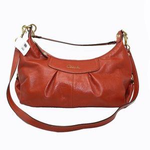 Ashley Hobo Orange Leather Cross Body Bag F19761